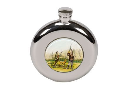 Bisley 4.5oz Round Shooting Hip Flask in Presentation Box