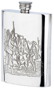 Bisley 6oz Game Season Pewter Flask