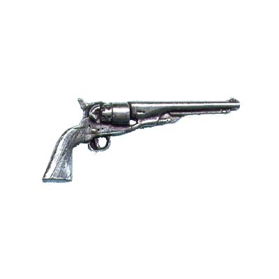 Pewter Pin - Antique Revolver