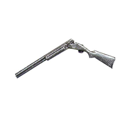 Pewter Pin - Broken Shotgun