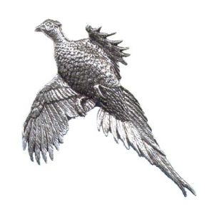 Pewter Pin - Large Pheasant