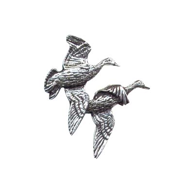Pewter Pin - Pair of Ducks