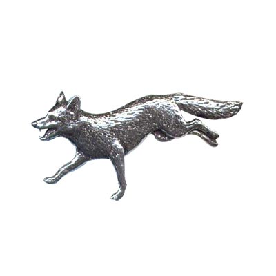Pewter Pin - Running Fox