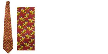 Solid Red Pheasant Silk Tie