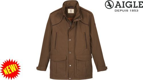 Aigle Signature Field Coat: Brown