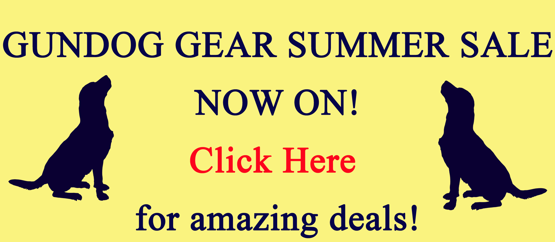 Gundog Gear Summer Sale Now On!